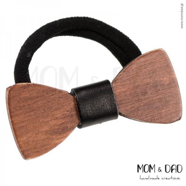 Ξύλινος Φιόγκος σε Λάστιχο Mom & Dad 53011280